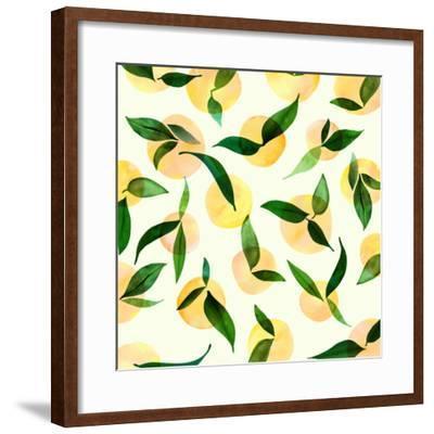 Wild Lemons-Modern Tropical-Framed Art Print