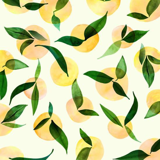 Wild Lemons-Modern Tropical-Art Print