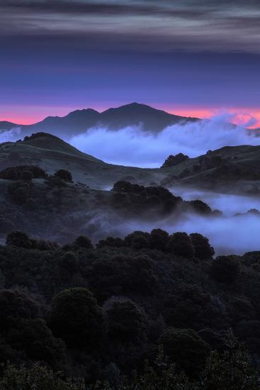 Wild Morning Fog at Sunrise East Bay Hills Mount Diablo Oakland-Vincent James-Photographic Print