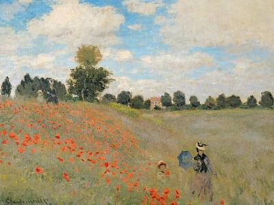 Wild Poppies, Near Argenteuil (Les Coquelicots: Environs D'Argenteuil), 1873-Claude Monet-Giclee Print