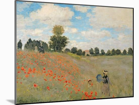 Wild Poppies, Near Argenteuil (Les Coquelicots: Environs D'Argenteuil), 1873-Claude Monet-Mounted Giclee Print
