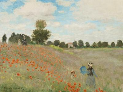 Wild Poppies, Near Argenteuil-Claude Monet-Art Print