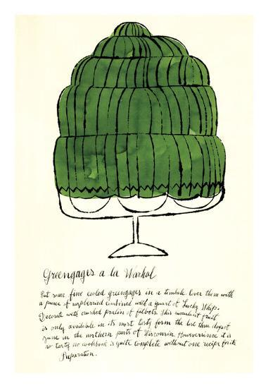 Wild Raspberries by Andy Warhol and Suzie Frankfurt, 1959 (green)-Andy Warhol-Art Print
