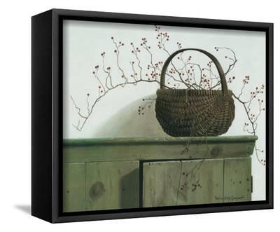 Wild Rose Berries, 1987-Pauline Ebl? Campanelli-Framed Canvas Print