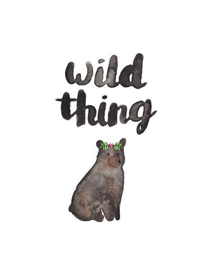 Wild Thing Bear-Elena O'Neill-Art Print