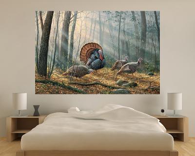 Wild Turkeys (Indoor/Outdoor) Vinyl Wall Mural--Wall Mural