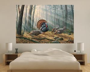 Wild Turkeys (Indoor/Outdoor) Vinyl Wall Mural
