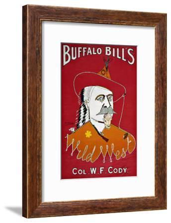 Wild West Buffalo Bill--Framed Giclee Print