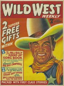 Wild West, Cowboys Westerns Pulp Fiction First Issue Magazine, USA, 1938