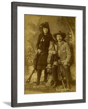 Wild West Photo Of Gordon Lillie (Pawnee Bill) & May Lillie-Swords Brothers-Framed Art Print