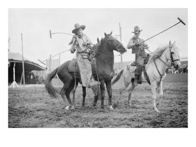 Wild West Polo Played By Cowboys on Horses at Coney Island--Art Print