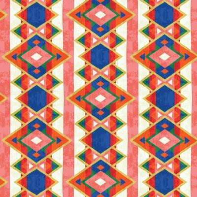 Wild Wood Tiles IV Bright--Art Print