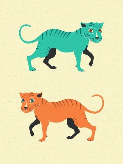 Wildcats-Jazzberry Blue-Art Print