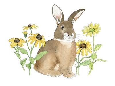 Wildflower Bunnies III-Beth Grove-Art Print