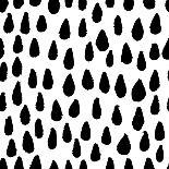 The Seamless Black and White Pattern with Crosses. the Creative Monochrome Hand Drawn Background Fo-wildfloweret-Art Print