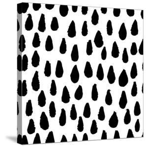 The Seamless Black and White Pattern with Drops. the Creative Monochrome Hand Drawn Background for by wildfloweret