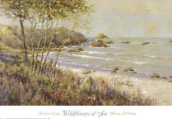 Wildflowers at the Sea-Michael Longo-Art Print
