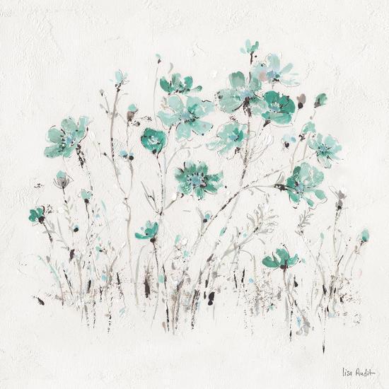 Wildflowers II Turquoise-Lisa Audit-Art Print