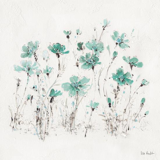 Wildflowers III Turquoise-Lisa Audit-Art Print