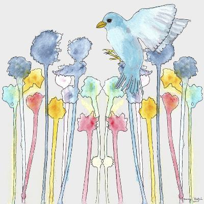 Wildflowers with Bird-Tammy Kushnir-Giclee Print