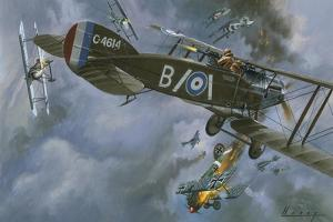 Aircraft in Dogfight by Wilf Hardy