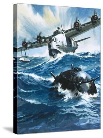 As Flying Officer G. O. Singleton Gunned the Engine of the Short Sunderland He Saw a Drifting Mine