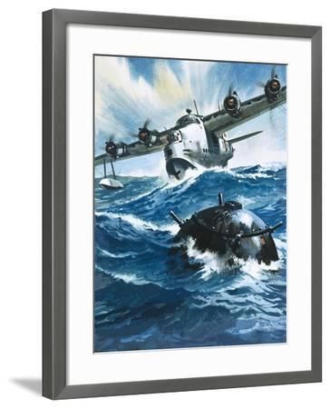 As Flying Officer G. O. Singleton Gunned the Engine of the Short Sunderland He Saw a Drifting Mine