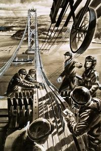 Building the Bridge across the Firth of Forth by Wilf Hardy