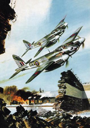 De Havilland Mosquito by Wilf Hardy