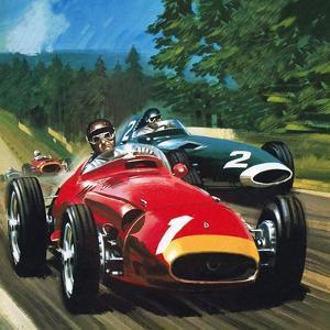 Juan Manuel Fangio by Wilf Hardy