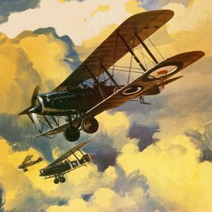 Men of the Royal Flying Corps Out to Combat the Threat of the German Floating Flotilla by Wilf Hardy