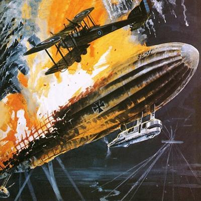 Shooting Down a Zeppelin During the First World War