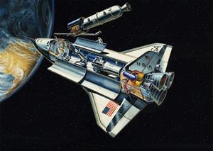 The Space Shuttle by Wilf Hardy
