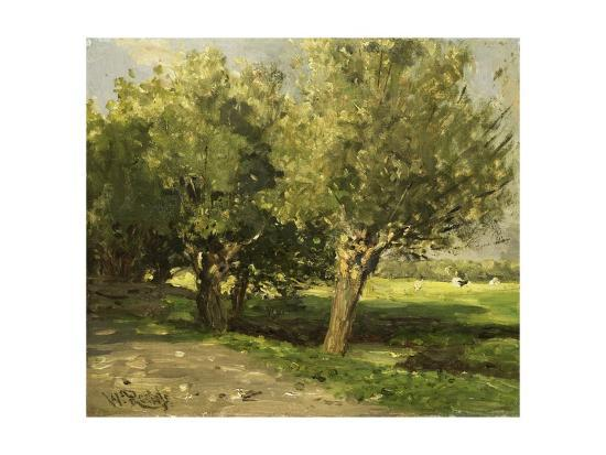 Wilgebome (Willow Trees), 1st, 1875-85-Willem Roelofs I-Giclee Print