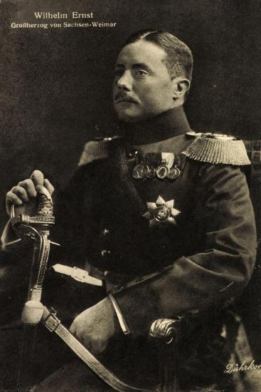 Wilhelm Ernst, Großherzog Von Sachsen Weimar,Uniform--Giclee Print