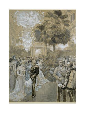 """Court ball at the Vienna """" Hofburg"""", the town palace of the Emperors of Austria-Hungary."""