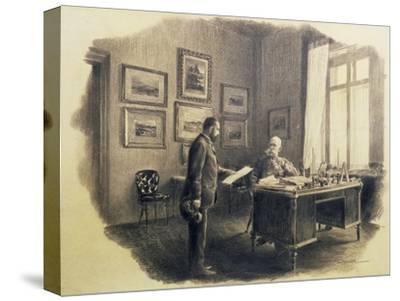 Emperor Franz Joseph I of Austria (1830-1916) at His Writing Desk at Jagdrock