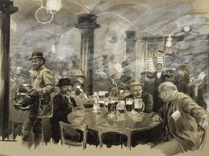 Interior of the Winter Bierhaus in Vienna by Wilhelm Gause