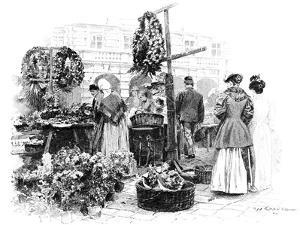 The Flower Market, 1901 by Wilhelm Gause