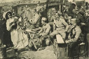 Viennese Humour in a Camp of Reservists in the Carpathian Mountains by Wilhelm Gause