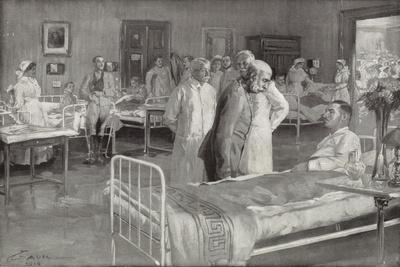 Visit of Franz Joseph of Austria to a Military Hospital in Vienna