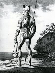 A Young Noukahiwan Man Not Completely Tattooed, 1813 by Wilhelm Gottlieb Tilesius von Tilenau