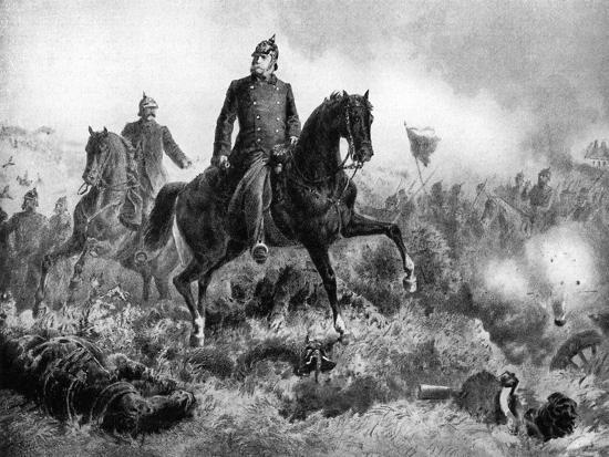 Wilhelm I at the Battle of Sadowa, 3 July 1866--Giclee Print