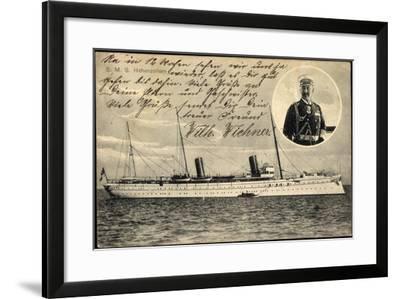 Wilhelm II, S.M.S Hohenzollern, Norddeutscher Lloyd--Framed Giclee Print