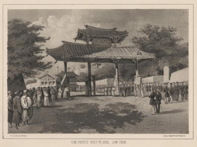 Com: Perry's Visit to Shui, Lew Chew, 1855 by Wilhelm Joseph Heine