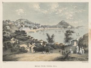 Macao from Penha Hill, 1855 by Wilhelm Joseph Heine