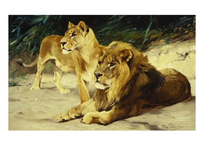 Lion and Lioness-Lowenparr