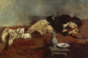 Savoyard Boy Sleeping, 1869 by Wilhelm Leibl
