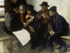 The Village Politicians, 1877 by Wilhelm Leibl