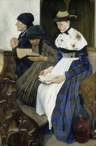 Three Women in Church, 1878/82 by Wilhelm Leibl